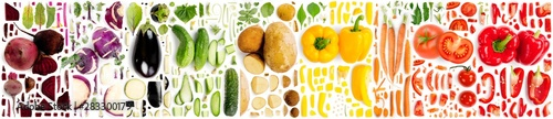Obraz Vegetable Collection Abstract - fototapety do salonu
