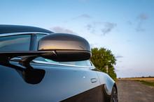 Carbonrückspiegel Eines Aston Martin Im Detail