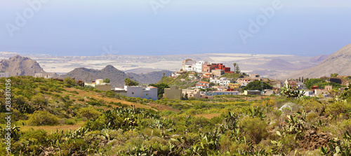 Beautiful panoramic view of Arona village on Tenerife, Canary Islands, Spain Canvas Print