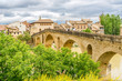 Old Romanesque Bridge over Arga river in Puente La Reina - Spain