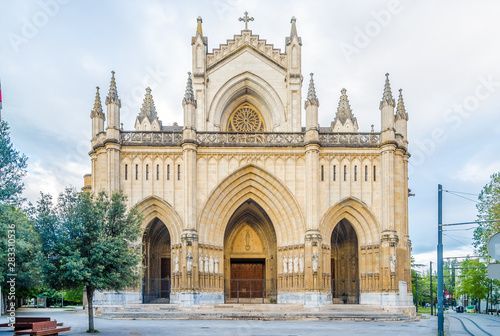 View at the Portal of Cathedral of Santa Maria Immaculada in Victoria-Gasteiz, Spain