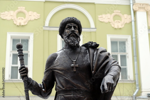 Monument to Tsar Ivan the terrible at the alley of rulers in Moscow Fototapeta