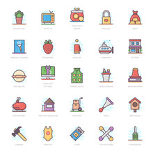 Technical Tools Flat Icons Pack
