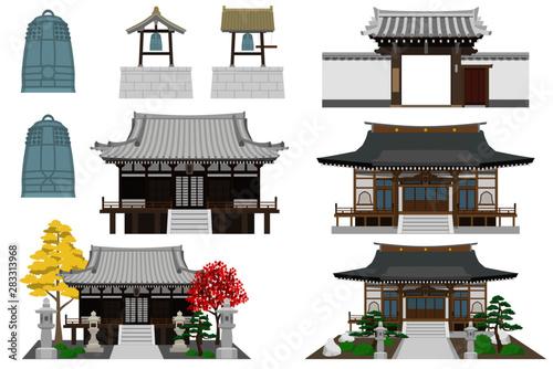 Fototapeta 日本のお寺セット obraz