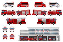 日本の消防車両と消防...