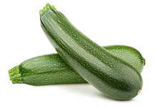 Zucchini Isolated On White Background, Clipping Path, Full Depth Of Field