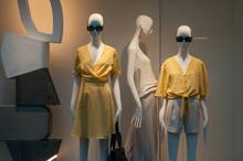 Closeup Of Yellow Summer Cloth...
