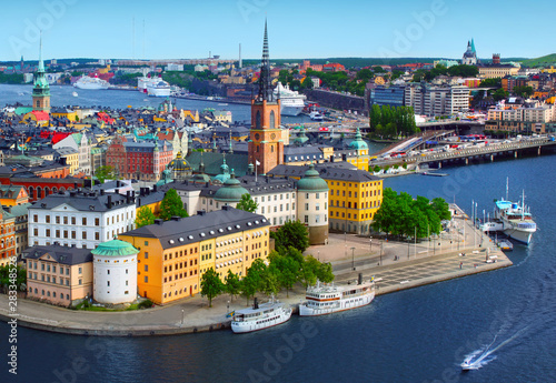 Canvas Prints Stockholm Panorama of Stockholm, Sweden