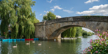 Halfpenny Bridge Across The River Thames, At Lechlade, Gloucestershire, England, United Kingdom