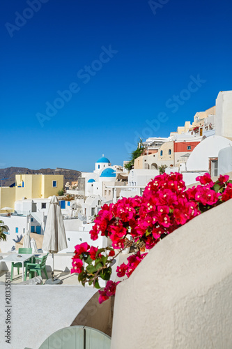Fototapety, obrazy: View of the architecture of Santorini