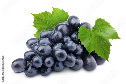 Fototapeta purple grape, isolated on white background, clipping path, full depth of field obraz