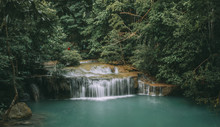 Beautiful Erawan Waterfall, Erawan National Park