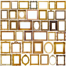 Collage Of Picture Frames Isolated On White