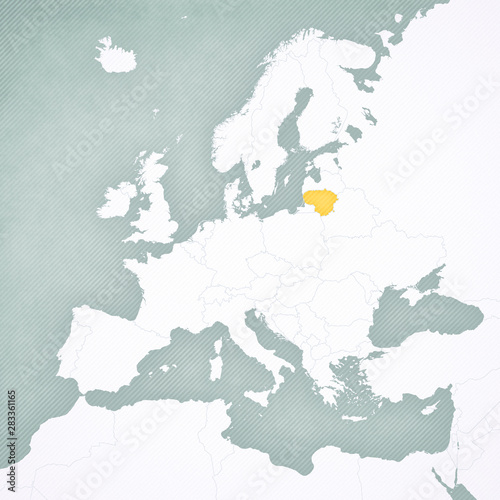 Photo Map of Europe - Lithuania