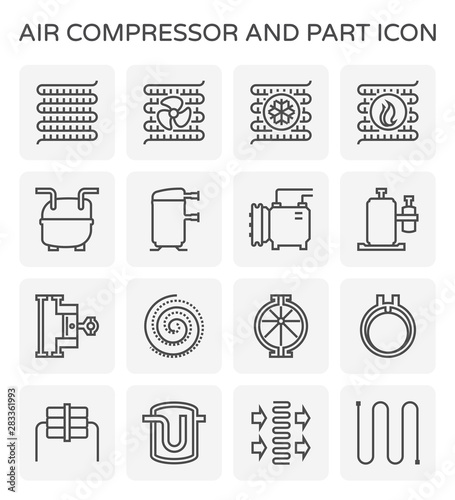 Fototapeta air compressor icon obraz
