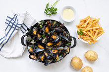 Belgian Mussels With Potato Fr...