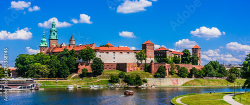 Fototapeta View of Wawel Castle in Krakow, Poland obraz