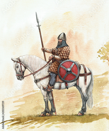 Fotografija Medieval knight horseback