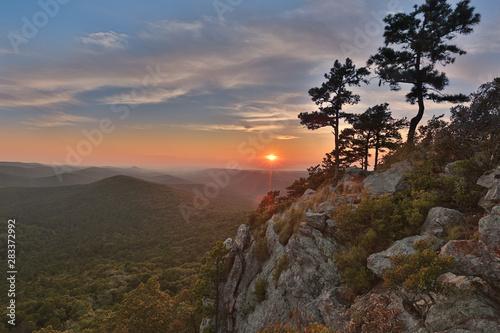 Poster Gris traffic epic Arkansas sunset national forest flatside wilderness