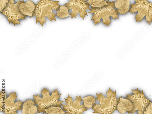 Photo sur Toile Les Textures Background With Autumn Golden Leaves