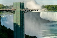 Niagara Falls Observation Tower As Seen From Rainbow International Bridge