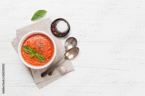Cold gazpacho soup Fototapet