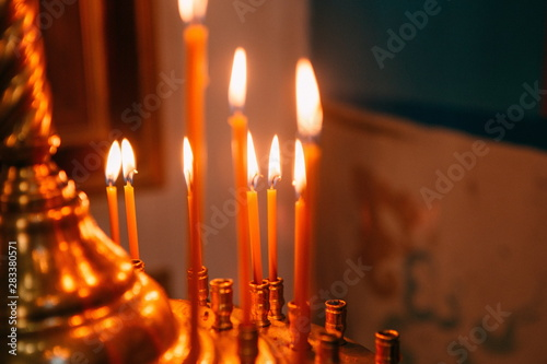 religious rite celebration cathedral decorations candles Canvas-taulu