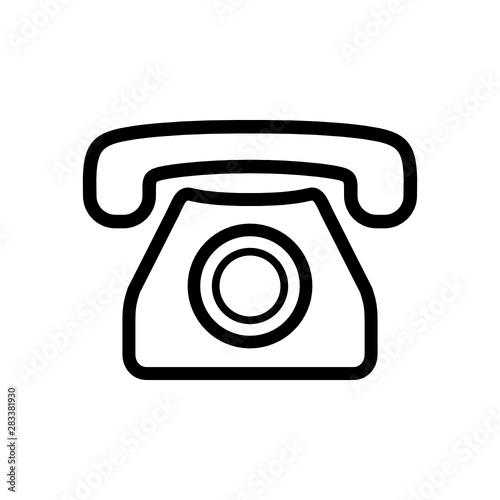 Fototapeta telefon ikona obraz