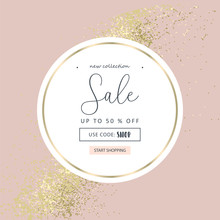 Elegant Luxury Nude Rose Pink Blush And Gold Glitter Brush Stroke  Background. Chic Trendy Print With Botanical Motifs