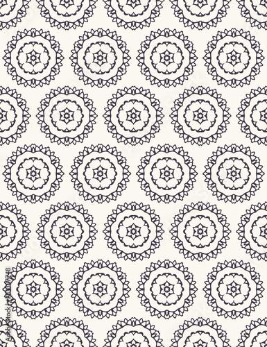 Photo Seamless pattern hand drawn ornamental azulejo polka dot background