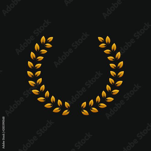 Valokuvatapetti Laurel wreath icon in gold