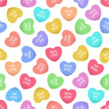 Candy Seamless Hearts Pattern....