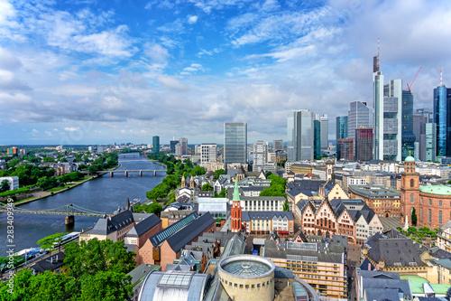 Fotomural Frankfurt am Main skyline
