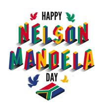 Vector Illustration For Happy International Nelson Mandela Day.
