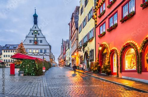 Obraz Rothenburg ob der Tauber, Bavaria, Germany - fototapety do salonu