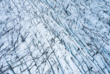 aerial view of glacier from above, ice texture landscape,Iceland