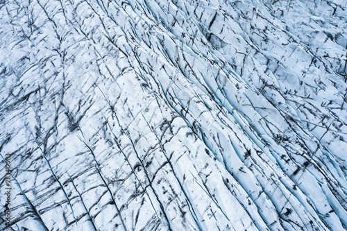 aerial view of glacier from above, ice texture landscape,Iceland Poster Mural XXL