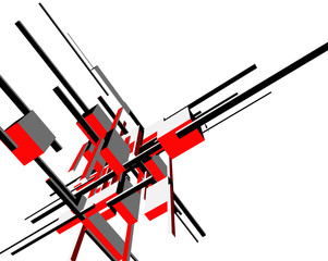 abstract architecture design, vector illustration