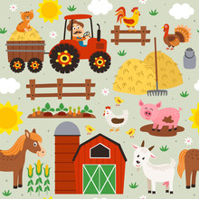 Seamless Pattern With Farmer R...