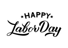 Happy Labor Day Calligraphy Ha...