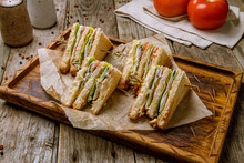 Club Sandwich With Chicken On ...