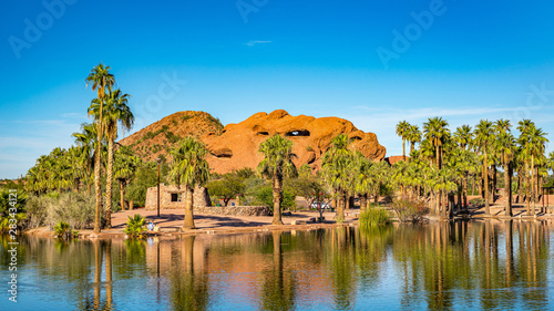Tuinposter Arizona Beautiful Papago Park in Phoenix, Arizona