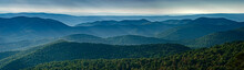 View Of Blue Ridge Mountains (near) And Appalachian Mountains (distance) From Overlook On Skyline Drive In Shenandoah National Park, Virginia, USA, In Late September.