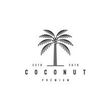 Coconut Tree Logo Design Templ...