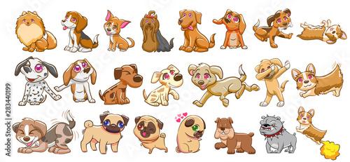 mata magnetyczna dog vector set graphic clipart design