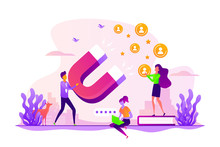 Customer Feedbacks Analyzing, Likes Farming. Lead Generation. Satisfaction And Loyalty Analysis, Customer Retention Increasing, Marketing Tools Concept. Vector Isolated Concept Creative Illustration
