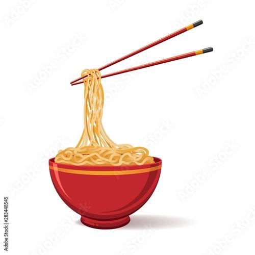 Photo Oriental noodle food