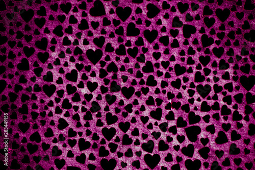 Keuken foto achterwand ZigZag Heart shaped colorful decorative objects
