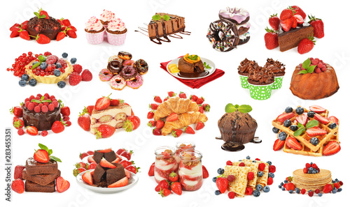 Photo  Assortment of various desserts