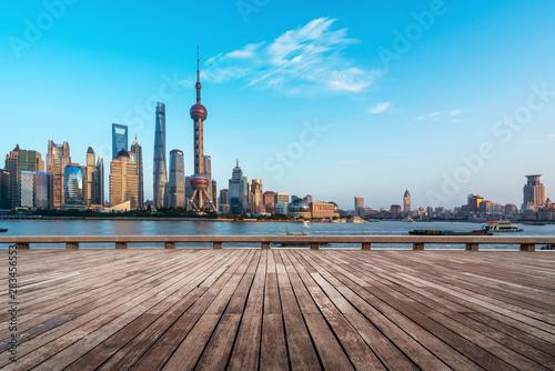 Foto auf Gartenposter Shanghai Shanghai Lujiazui Architectural Landscape Skyline..